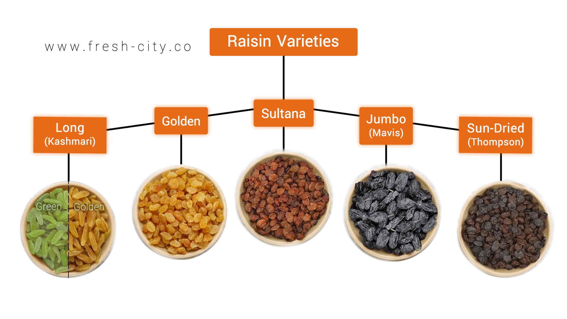 Iranian Raisins types